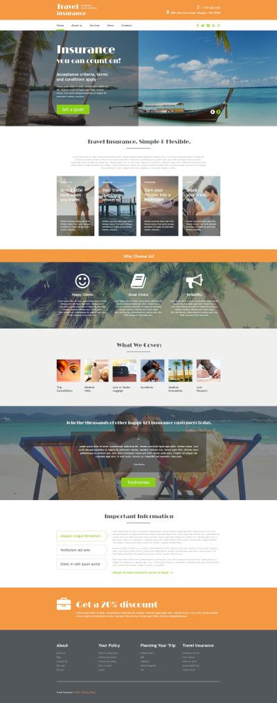 Responsywny szablon strony www #54874 na temat: biuro podróży i turystyki