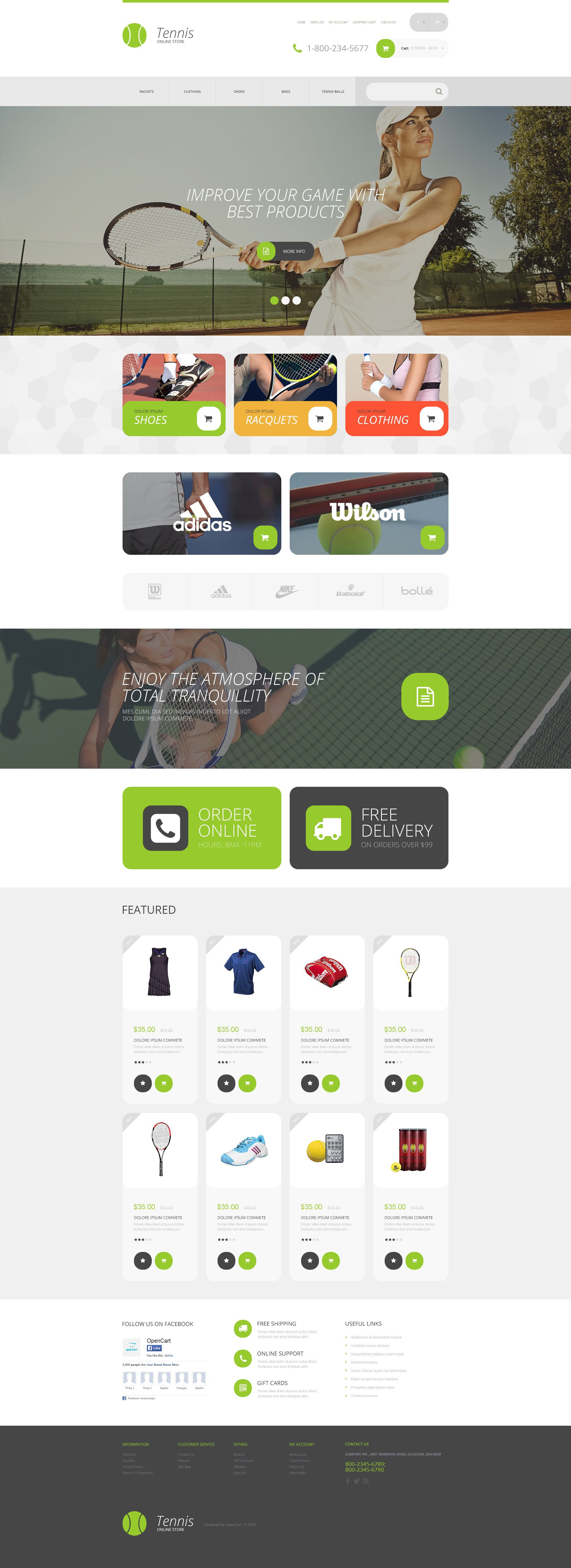 """Responzivní OpenCart šablona """"Sports Store"""" #54856"""