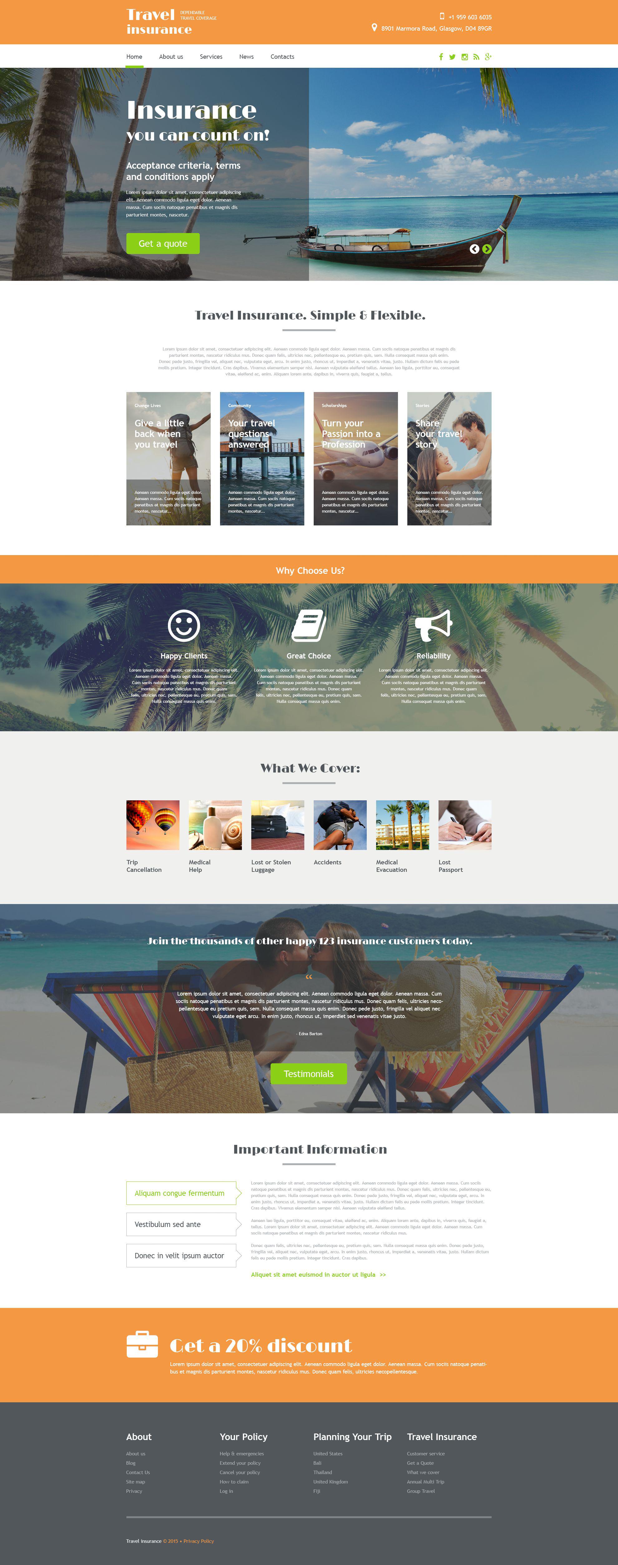 """Responzivní Šablona webových stránek """"Travel Agency"""" #54874"""