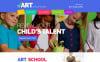 Reszponzív Children Art School Weboldal sablon New Screenshots BIG