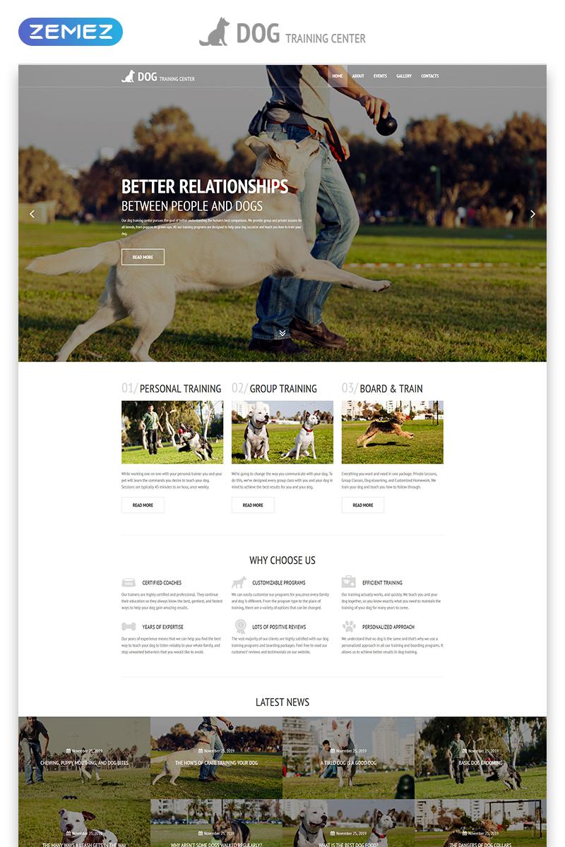 Reszponzív Dog Training Center - Dog Templates Responsive Modern HTML Weboldal sablon 54816