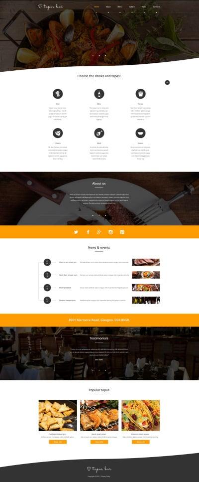 Tapas Restaurant Responsive Weboldal Sablon