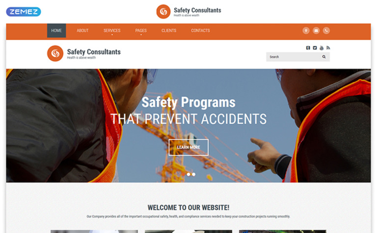 Safety Consultant Website Template
