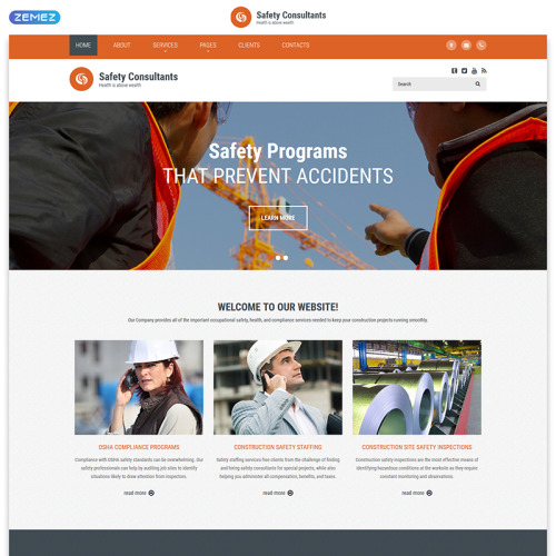 Safety Consultants - Responsive Website Template
