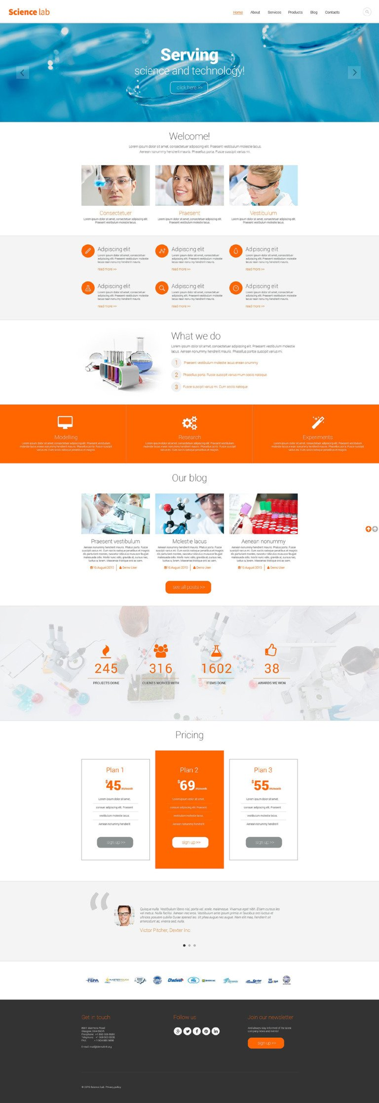 Science Lab Drupal Template New Screenshots BIG