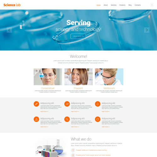 Science Lab - Responsive Drupal Template