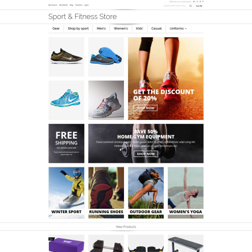 Sports & Fit Ness Store - Magento Template based on Bootstrap