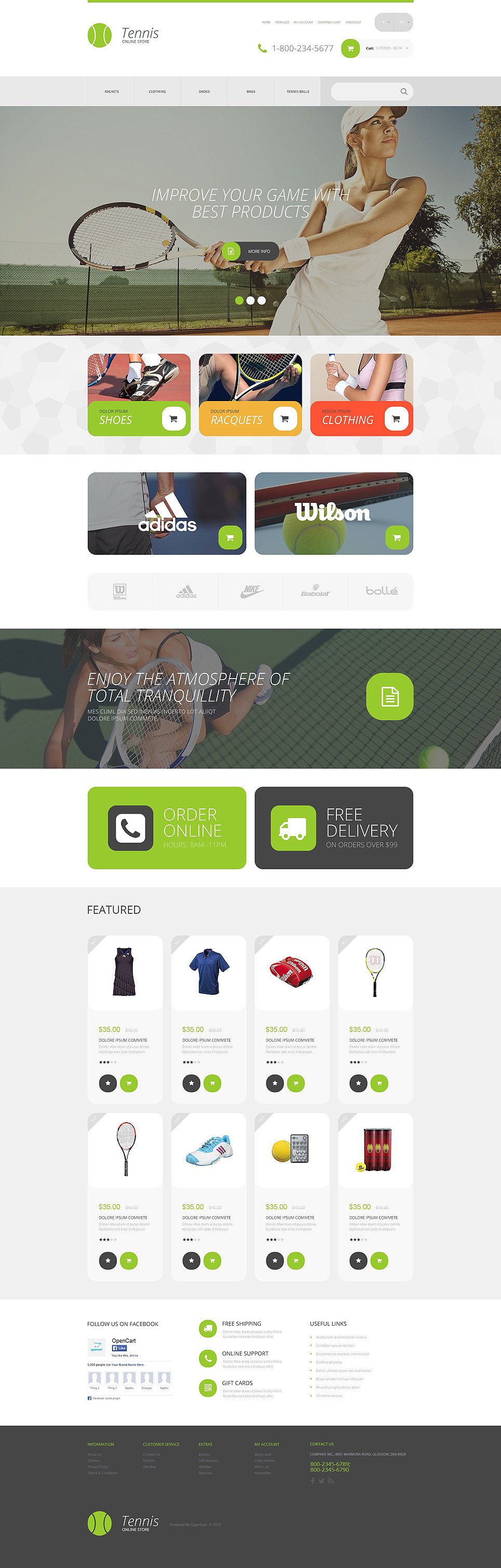 Tennis Opencart Template
