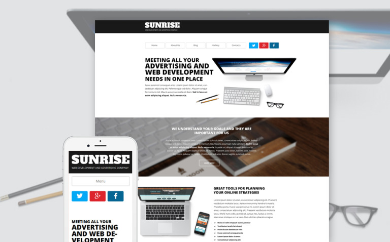 Sunrise WordPress Theme New Screenshots BIG