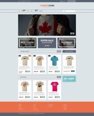 T-shirt Shop Responsive Shopify Theme #54841