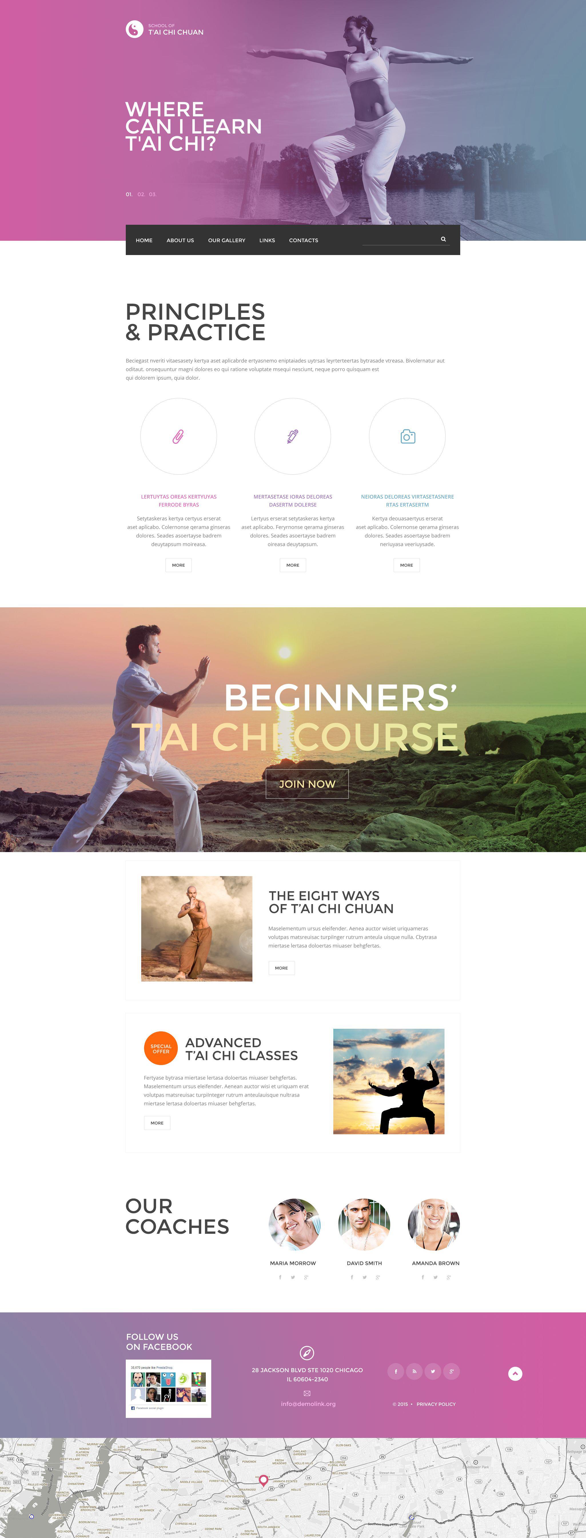 Tai Chi Chuan Website Template