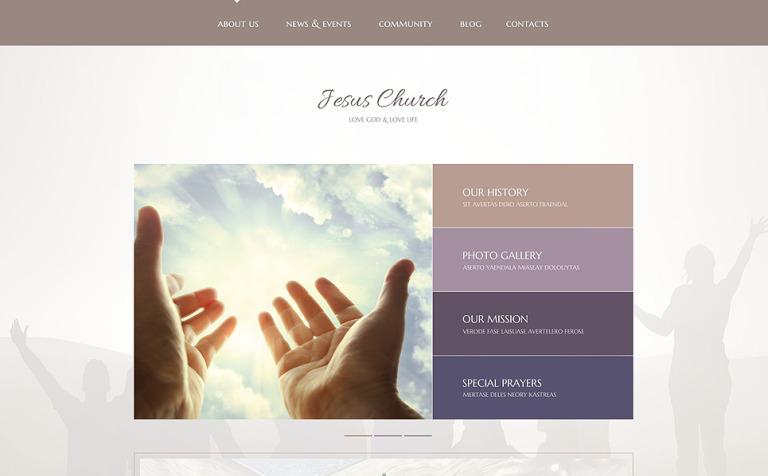 Tema de WordPress #54859 para Sitio de Religión