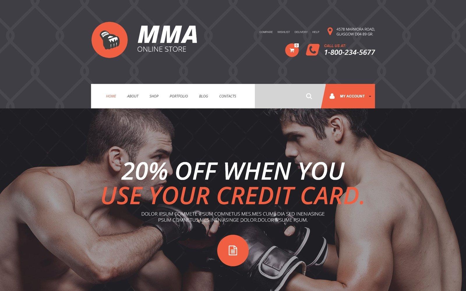"""Tema WooCommerce """"Tienda MMA"""" #54870"""