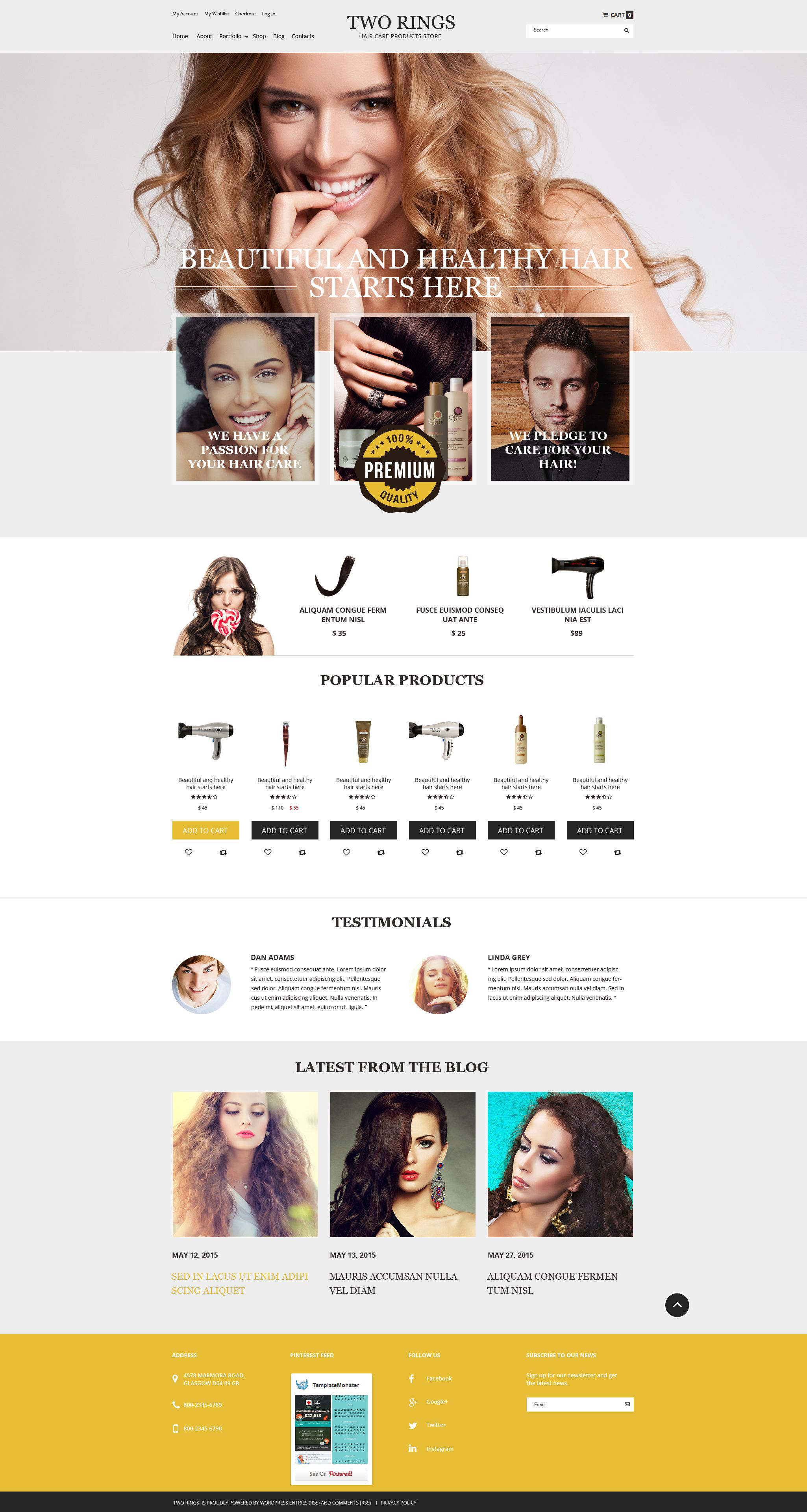 "Tema WooCommerce ""Two Rings"" #54871 - captura de pantalla"