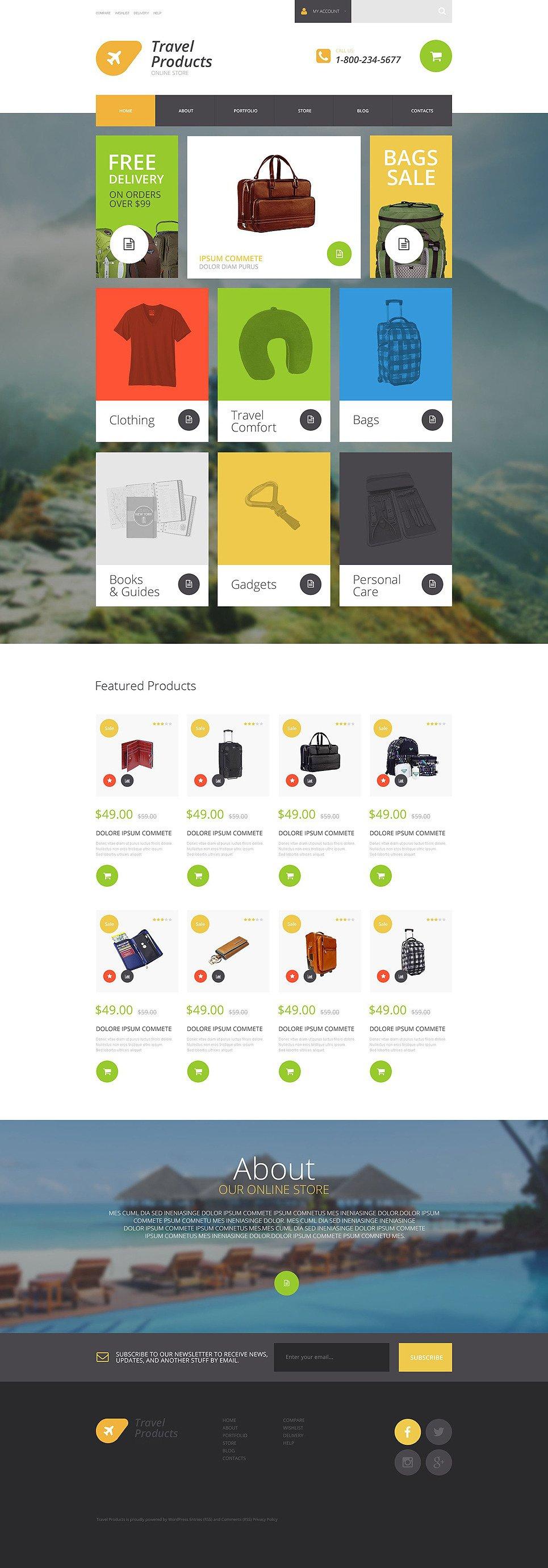 Travel Products Store WooCommerce Theme New Screenshots BIG