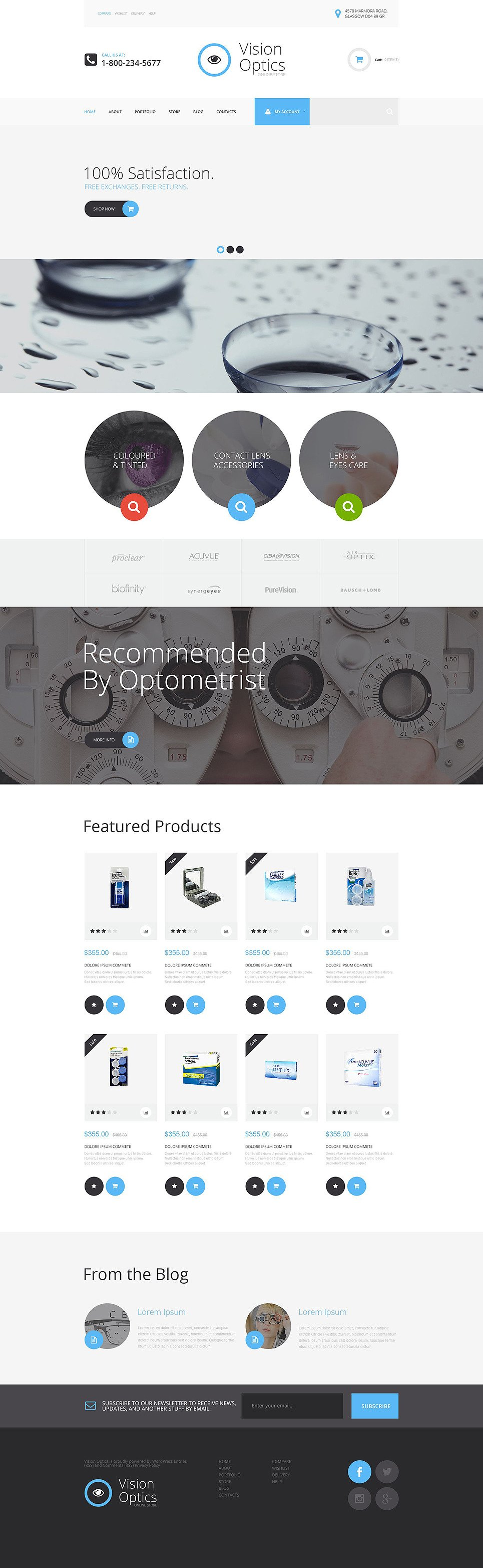 Vision Optics WooCommerce Theme New Screenshots BIG