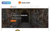 "Website Vorlage namens ""Hindu Faith - Hinduism Multipage Modern  HTML"""