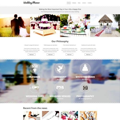 Wedding Planner - MotoCMS 3 Wedding Planner Template