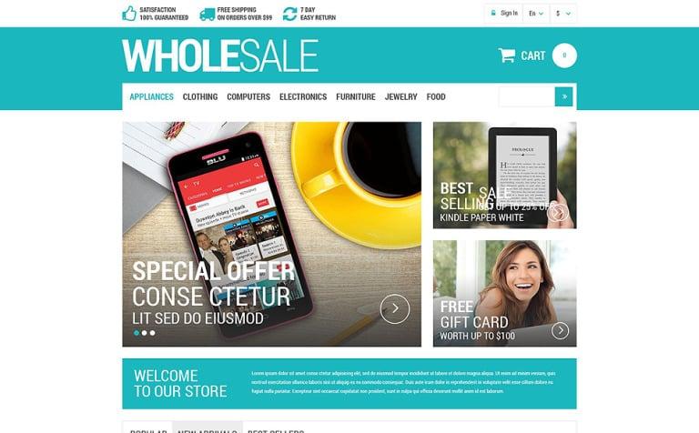 Wholesale Products PrestaShop Template - Real estate wholesale website templates