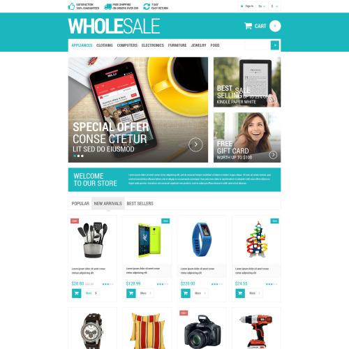 Wholesale - PrestaShop Template based on Bootstrap