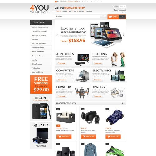 4You Wholesale  - Shopify Template based on Bootstrap