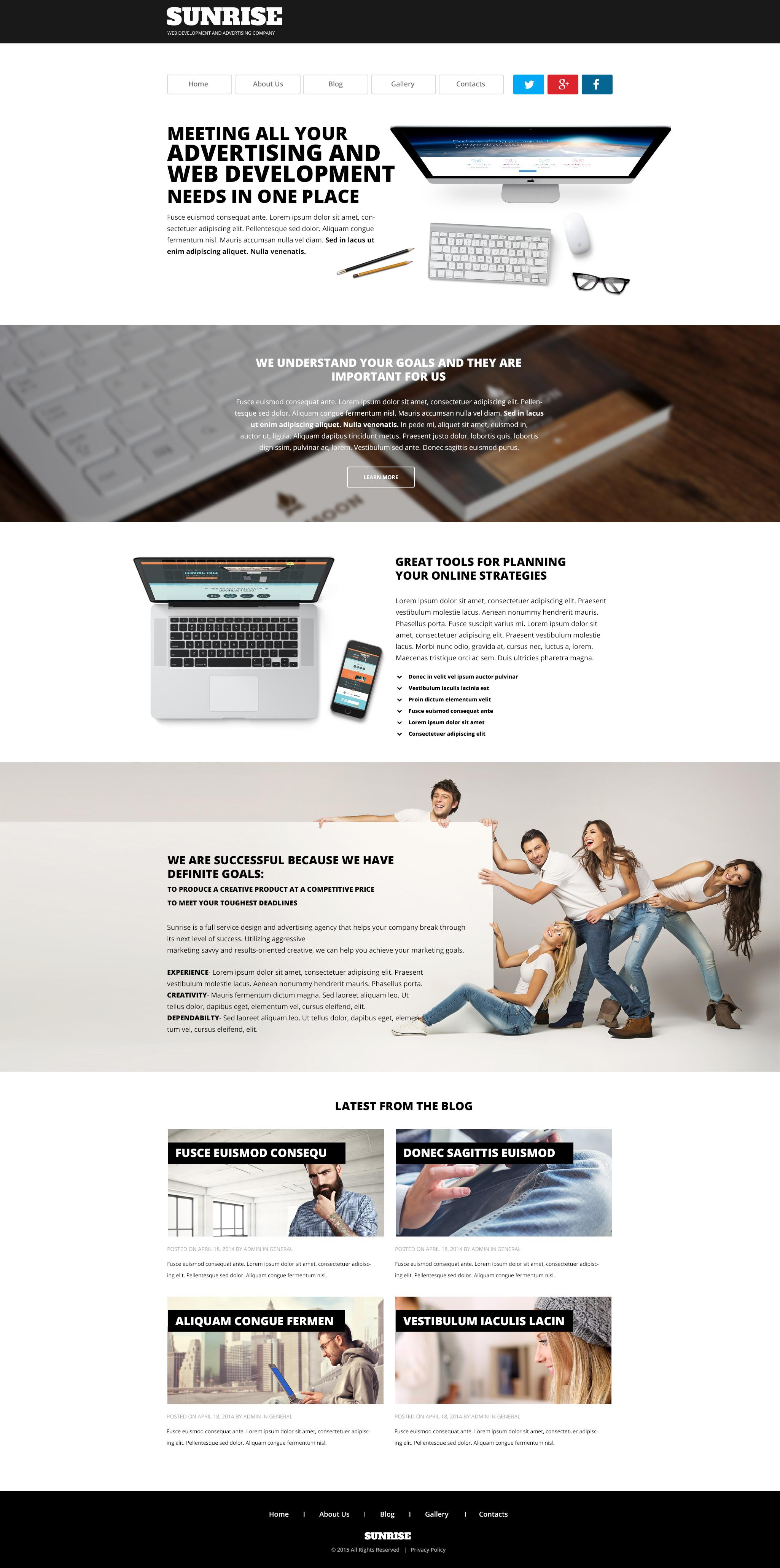 "WordPress Theme namens ""Sunrise"" #54801 - Screenshot"