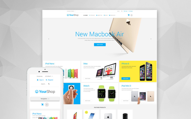 YourShop VirtueMart Template New Screenshots BIG