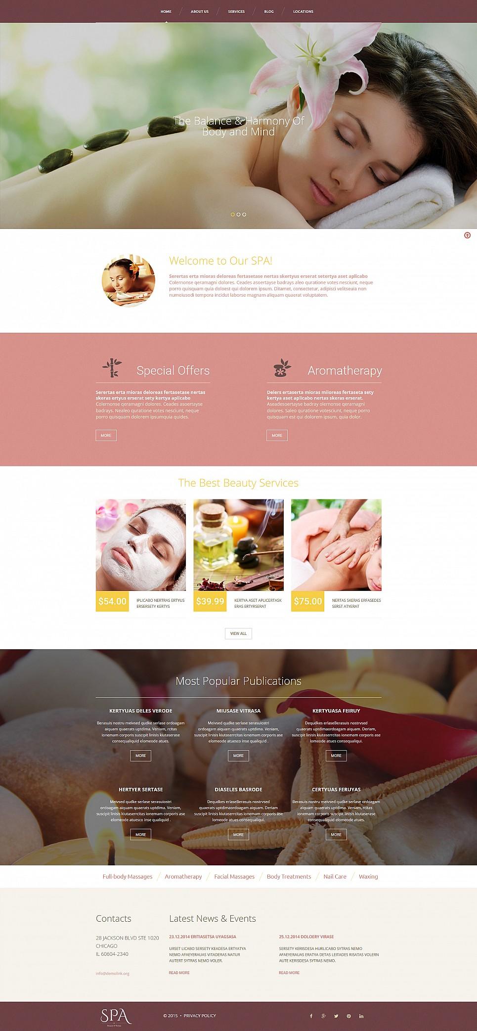 Responsive Design for Spa Salon Website - image