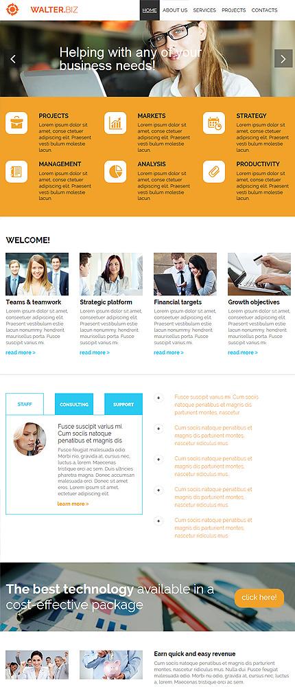 ADOBE Photoshop Template 54905 Home Page Screenshot