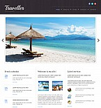 Travel Moto CMS 3  Template 54906
