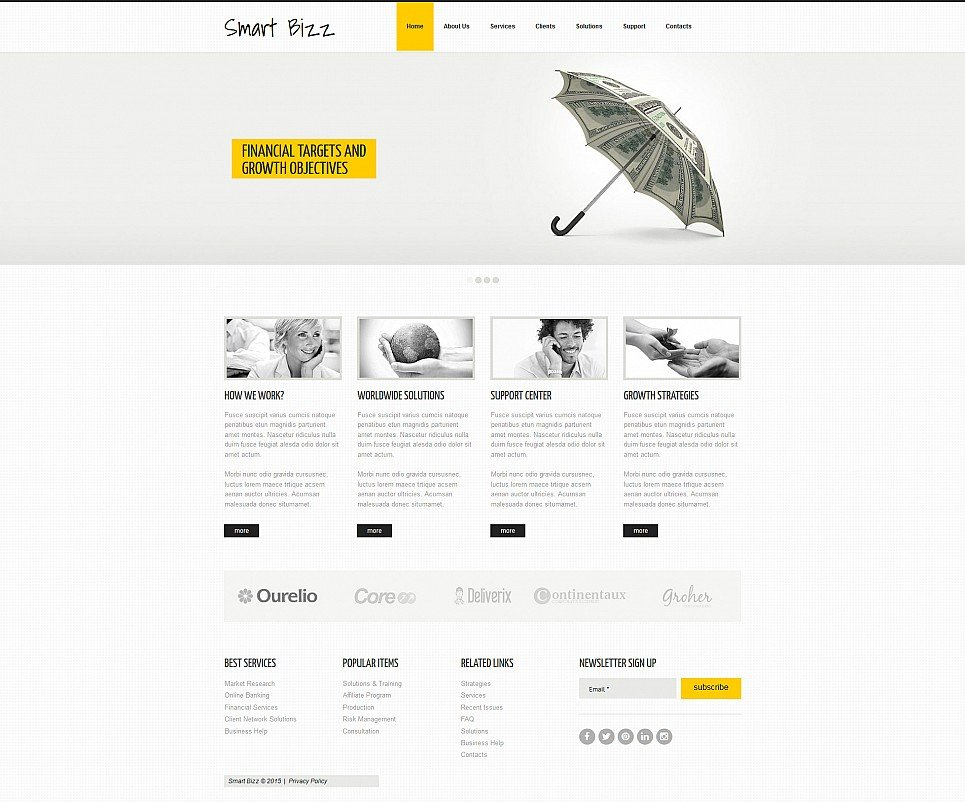 Responsive Theme for Business Company Website - image