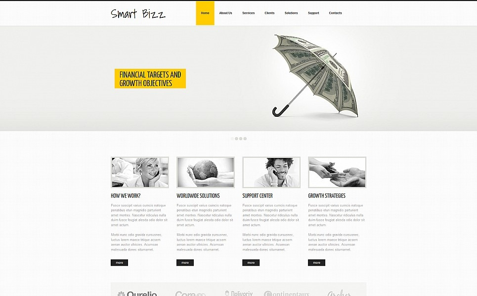 Template Moto CMS 3 Responsive #54907 per Un Sito di Business e Servizi New Screenshots BIG