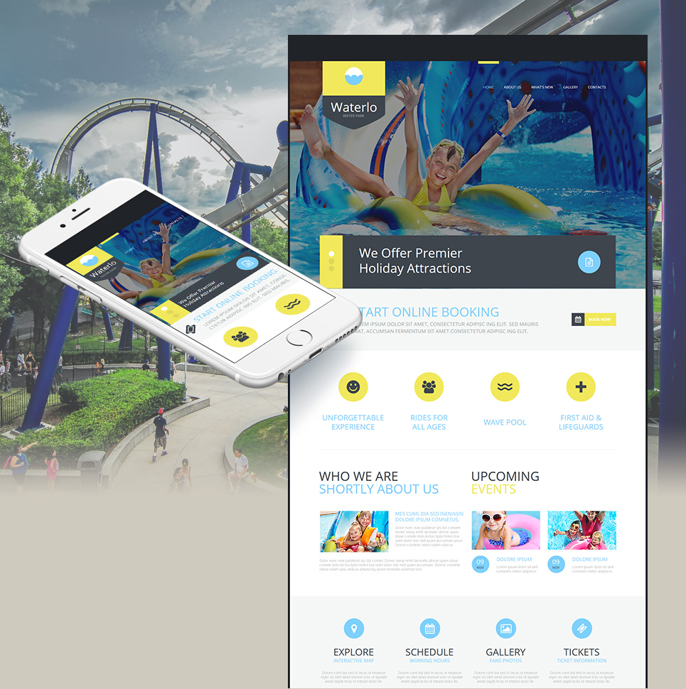 Aquatic facility website template