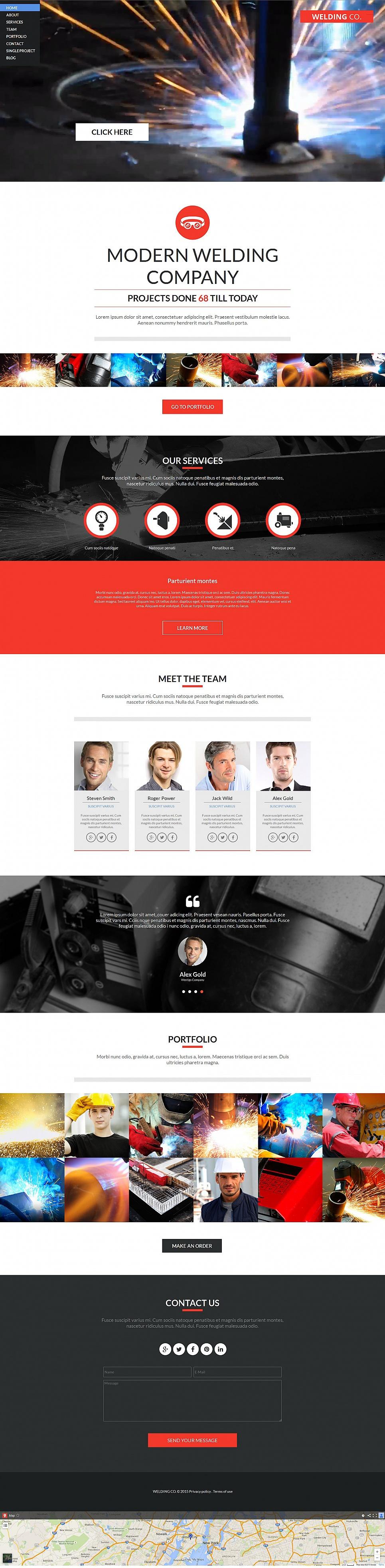 Welding company web design