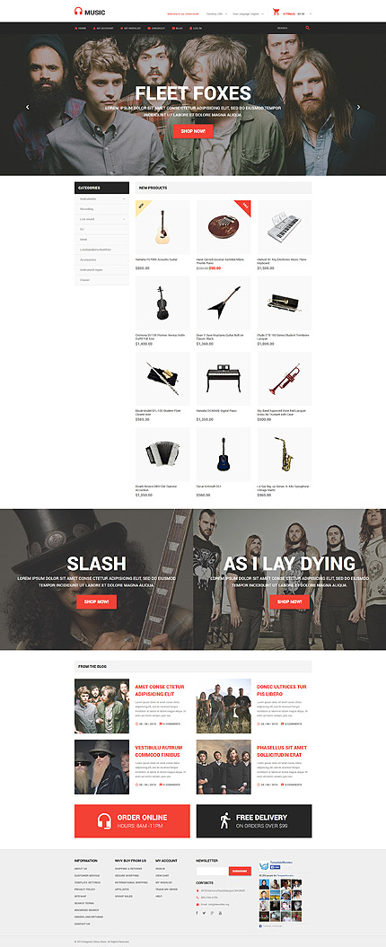 Magento Theme/Template 54931 Main Page Screenshot