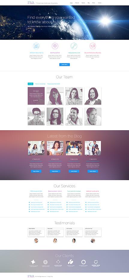 WordPress Theme/Template 54936 Main Page Screenshot