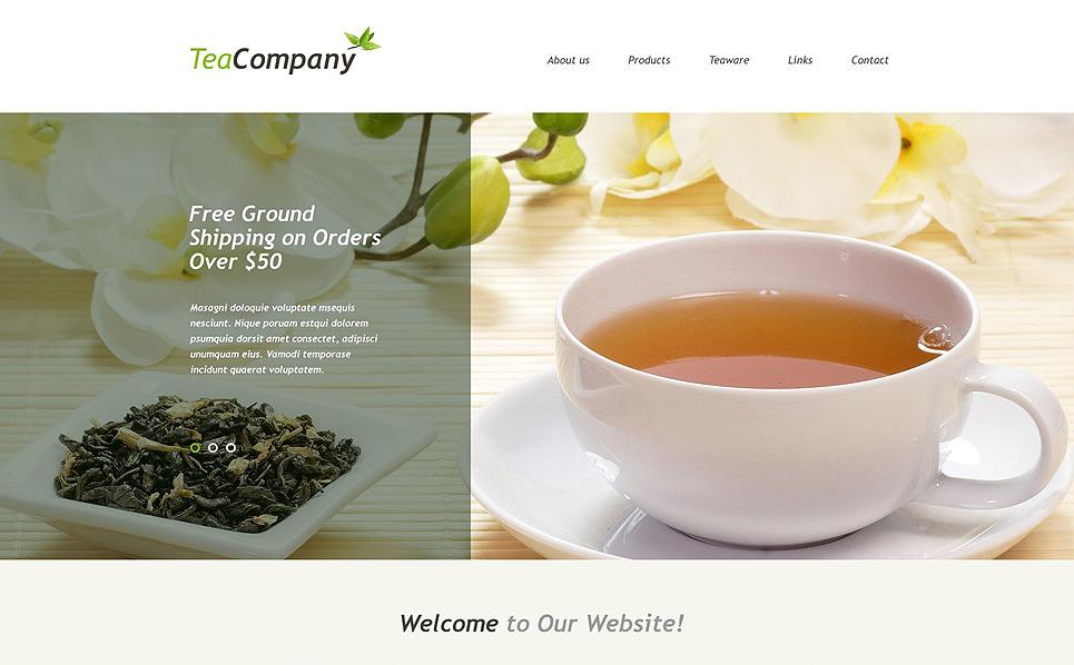Szablon Muse #54944 na temat: sklep z herbatą New Screenshots BIG