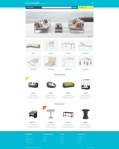 Möbler Responsivt OpenCart-mall