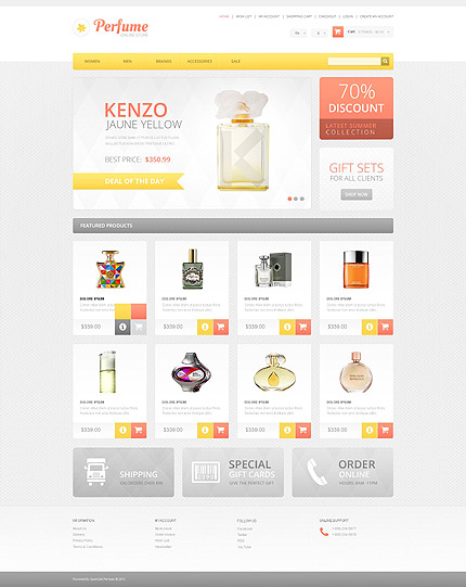 osCommerce Template 54956 Main Page Screenshot