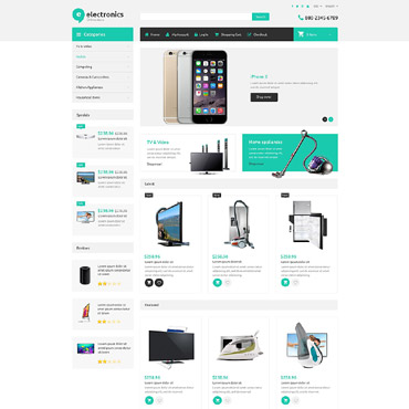 Preview image of Electronics ZenCart Template No. 54959