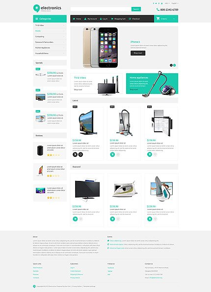 ZenCart Template 54959 Main Page Screenshot