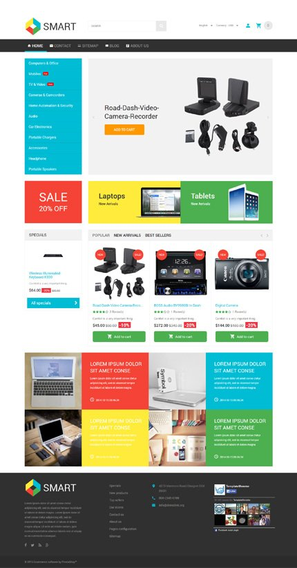 ADOBE Photoshop Template 54960 Home Page Screenshot