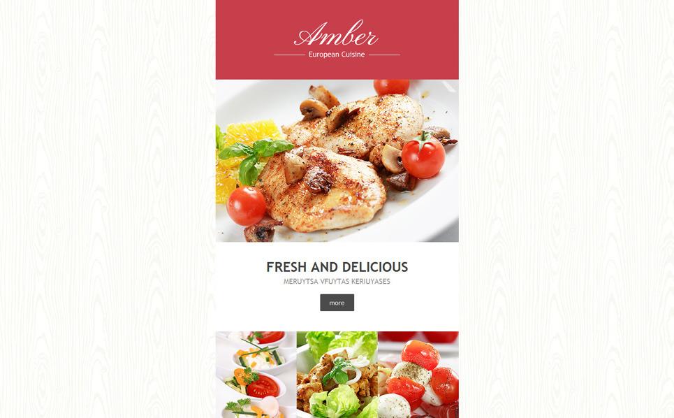Responsive European Restaurant Templates Haber Bülteni Şablon New Screenshots BIG