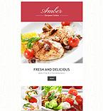 Cafe & Restaurant Newsletter  Template 54962