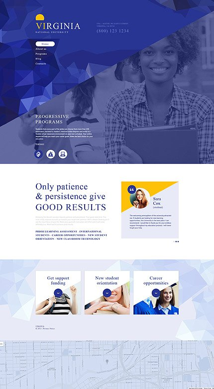 Drupal Template 54964 Main Page Screenshot