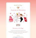 Wedding Newsletter  Template 54967