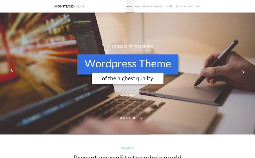 Wordpress Teması New Screenshots BIG