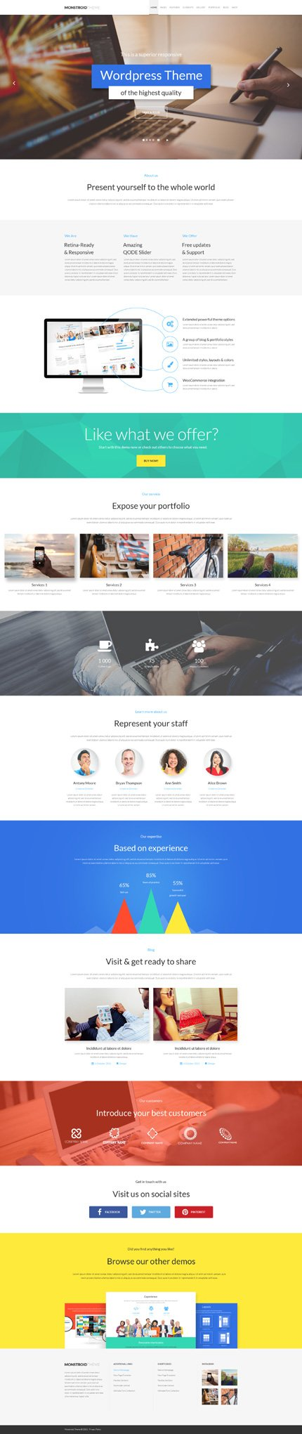 WordPress Theme/Template 54984 Main Page Screenshot