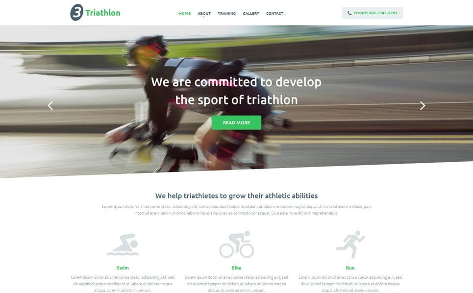 Responsive Website Vorlage für Sport  New Screenshots BIG