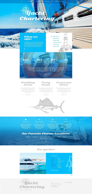 Адаптивний Шаблон сайту на тему яхтинг №54961